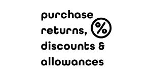 Purchase Discounts, Returns and Allowances