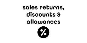 Sales Discounts, Returns and Allowances